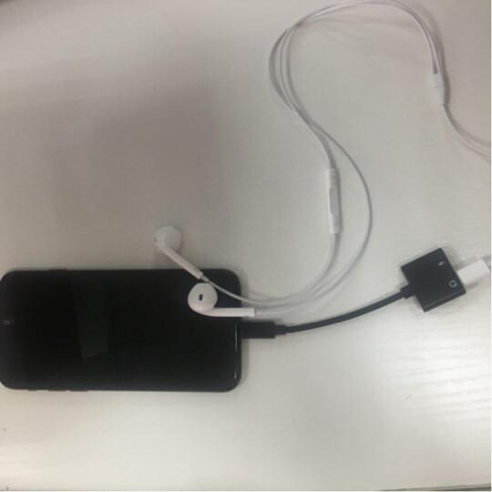 【次日达】FO苹果iPhone耳机转接头苹果XSR/8/7/6plus充电二合一音频转换器吃鸡转接口 【听歌通话】苹果转接头 晒单图
