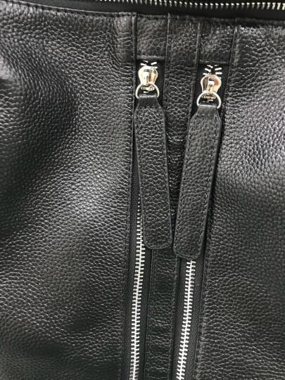 双ck双肩包2018新款背包女牛皮韩版大容量休闲时尚软皮背包女士旅行包 珍珠黑 晒单图