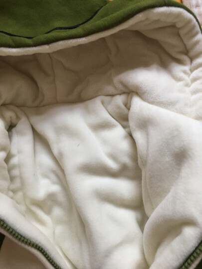 十点婴儿连体衣服2017秋冬季小青蛙可爱卡通新生儿加绒哈衣加厚宝宝爬衣婴幼儿外出服 卡其色 80 晒单图