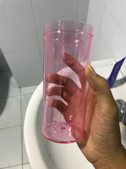 创意防漏塑料水杯 男女便携学生随手杯 户外运动水壶 太空杯 儿童茶杯子 粉红色 晒单图