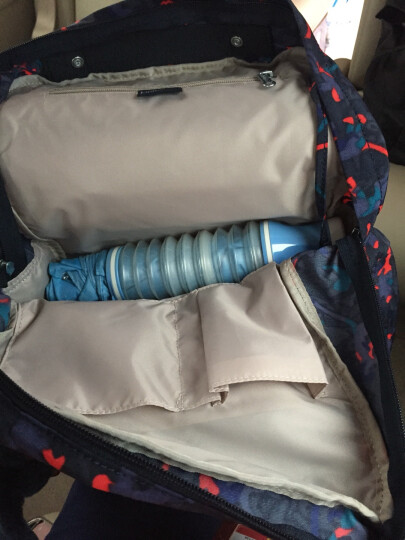 Kipling凯浦林大容量双肩包女旅行背包妈妈包K13536 蓝粉欢乐星 晒单图