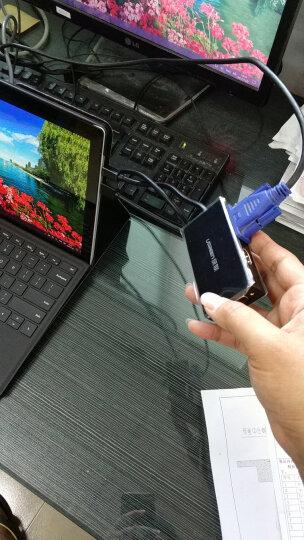 绿联(UGREEN)Mini DP转HDMI/VGA二合一转换器 迷你dp雷电接口 苹果Mac电脑电视显示器连接线/转接头 黑色 10439 晒单图