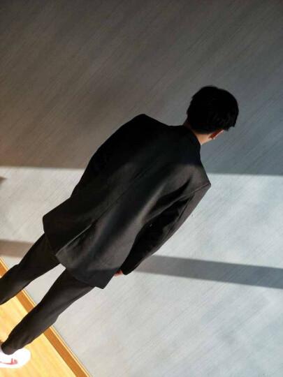 花花公子贵宾 毛呢大衣男2017秋冬中长款羊毛呢外套呢子大衣男 酒红色 1681 XL/180 晒单图
