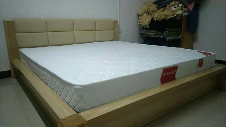 A家 床 框架实木床 1.5米 1.8米北欧双人床单人储物高箱床现代简约软包皮床主卧卧室家具 简易款+床垫+床头柜*1 框架床(1800mm*2000mm) 晒单图