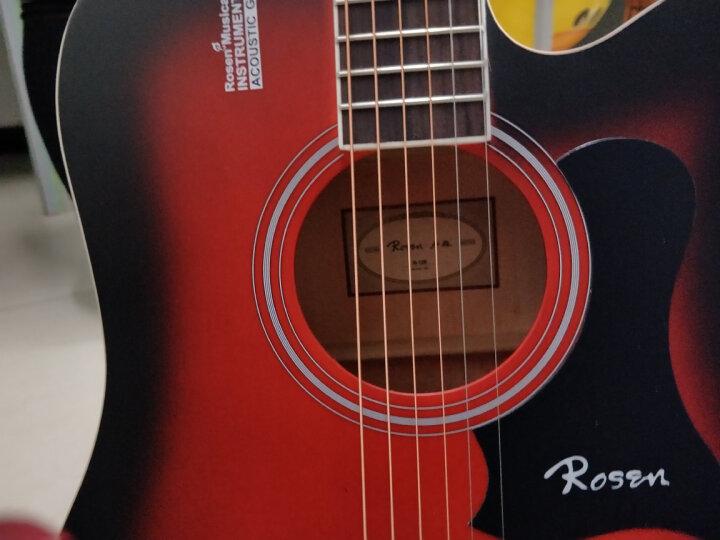 卢森(Rosen) 卢森Rosen吉他民谣木吉它40寸41寸初学者乐器guitar R-135红色 41寸 晒单图