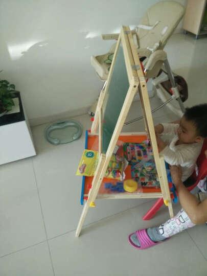 铭塔(MING TA)A7019-6 实木升降儿童豪华大画板 玩具双面黑板白板磁性写字板绘画工具画架夹支架式 晒单图