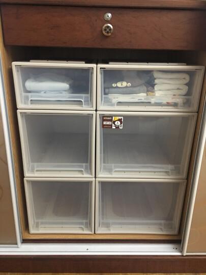 【3件7折】稻草熊抽屉式收纳柜透明塑料收纳箱衣柜储物箱衣物收纳盒儿童收纳整理箱衣柜收纳盒宝宝收纳 D3018(53*30*18cm)单个 晒单图