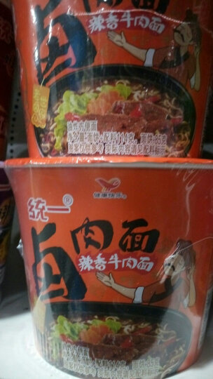 统一 方便面 来一桶 卤肉面 辣香牛肉味 12桶 整箱装 晒单图