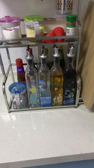 艾美诺(AMINNO) 家用玻璃油壶防漏油瓶调味瓶调料瓶酱油瓶醋瓶套装创意欧式厨房油罐 格林-夏日缤纷500毫升两个装 晒单图