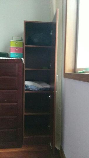 醉霞阁 简约单双人衣柜抽屉衣橱单门更衣柜阳台收纳柜置物柜 柚木色五格 晒单图