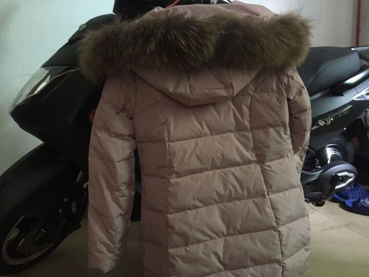恋思妮  羽绒服女新品2017新款大毛领加厚中长款冬季羽绒服女时尚韩版羽绒修身外套 粉色 L 晒单图
