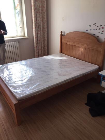 帕菲娅 儿童床单人床1.5米床实木床 全实木床+1床头柜+1床垫 1.5*1.9米 晒单图