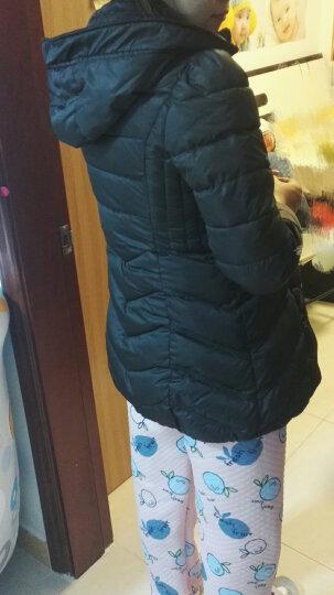 VANTRUE 新春年货 2018新款韩版中长款羽绒棉服女新品修身大毛领显瘦棉衣女外套潮 黑色 L 晒单图