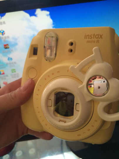彩友乐(CAIUL)适用于拍立得mini8/8+/9/KT 相机 卡通自拍镜 可爱 mini8兔子紫色自拍镜(不含相机) 晒单图