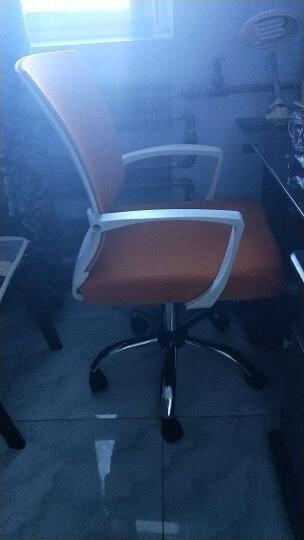 椅品汇 电脑椅办公椅老板椅可躺家用转椅升降会议椅弓形椅子W-05 黑框黑网滑轮款+尼龙脚 钢制脚 晒单图