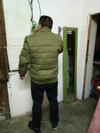COROROOA  羽绒服男2017冬季新款 两面穿外套男士休闲加厚保暖男装 军绿色 XXXL 晒单图