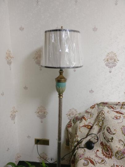 登对(DENGDUI)落地灯美式客厅沙发卧室床头立式台灯欧式复古温馨乡村暖光LED地中海乡村落地台灯 蓝绿色-杠杆开关 晒单图