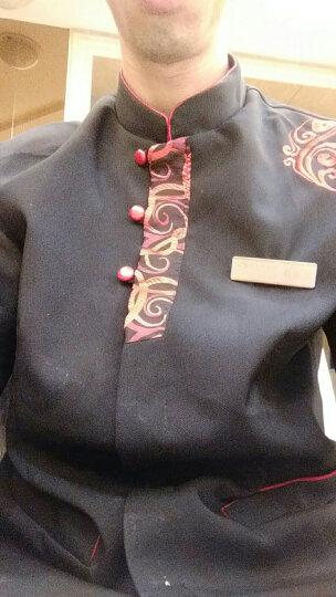 布致 服务员工作服 长袖秋冬装 饭店酒店酒楼餐厅西点西餐工作服务员工服 工装 男款红色 XXL 晒单图