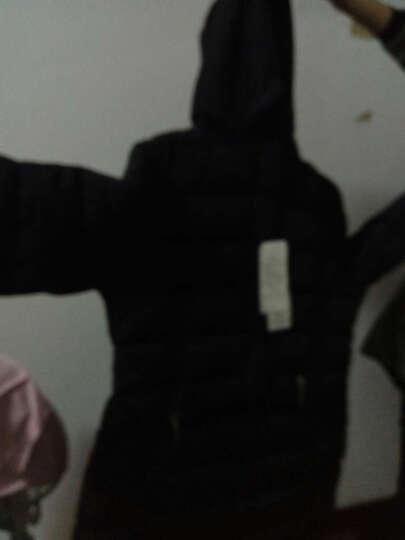 萌蝶莉 2018新款棉衣女中长款修身显瘦时尚保暖大毛领连帽棉服秋冬外套大码加厚棉袄 卡其色 XL建议109-119斤 晒单图