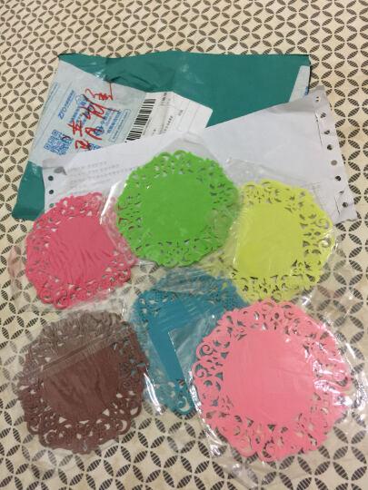 简佳 雕花隔热垫杯垫碗垫盘子防滑耐磨餐垫 六个粉色 大号 晒单图