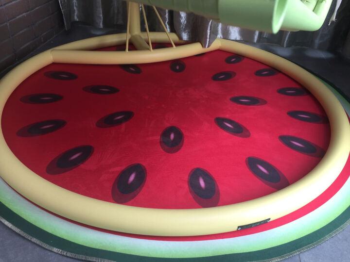 卡通正圆形地毯厚电脑椅防滑垫转椅吊篮吊椅摇椅藤椅鸟巢帐篷地垫包邮 西瓜3D 直径120厘米 晒单图