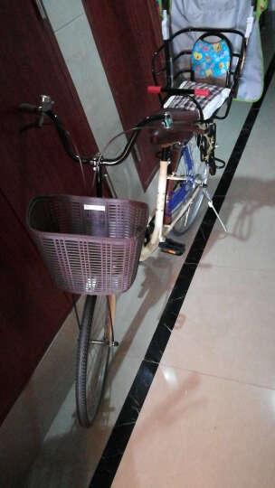 凤凰(Phoenix) 凤凰城市自行车女式24/26寸学生男女复古公主淑女单车休闲通勤车 24寸莉莉 米黄 晒单图