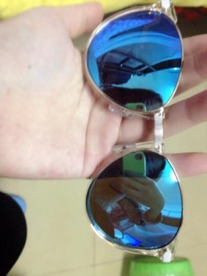 帆旗 太阳镜女 偏光蛤蟆镜 近视墨镜广告款H8350 透明框+亮蓝色镀膜-P46 晒单图