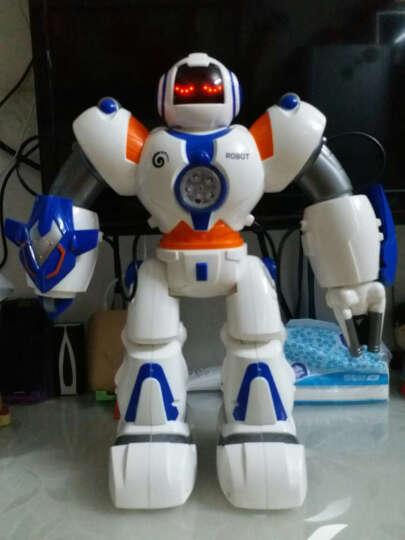 美致模型 美致智能机器人玩具 儿童遥控电动太空战警 可编程双语教学 多功能太空战警机器人【蓝】 晒单图