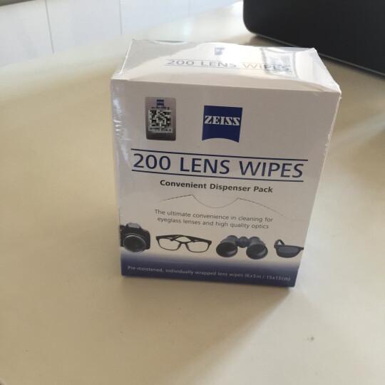 ZEISS德国蔡司专业擦镜纸 镜头纸 眼镜纸 清洁湿纸巾200片装 卡尔蔡司拭镜纸 晒单图