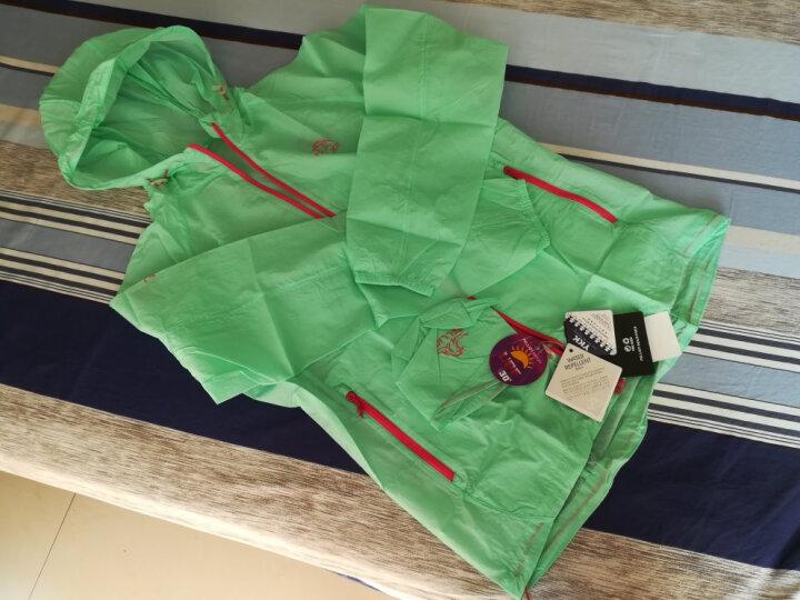 伯希和(PELLIOT)皮肤衣 男女户外运动皮肤防风衣2621204 女薄荷绿色 L 晒单图