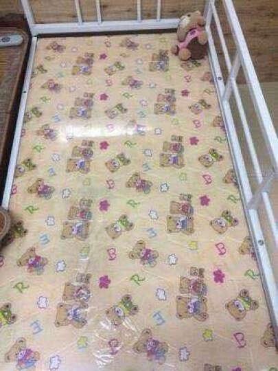 澳力思 折叠床带护栏床加宽铁床架家用组合床男女小孩床单人简易 粉色款 长125*宽70【床板不折叠】 晒单图