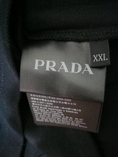普拉达PRADA男装 t恤休闲短袖POLO衫奢侈品 SJJ887 322 F0007枣红色 L 晒单图