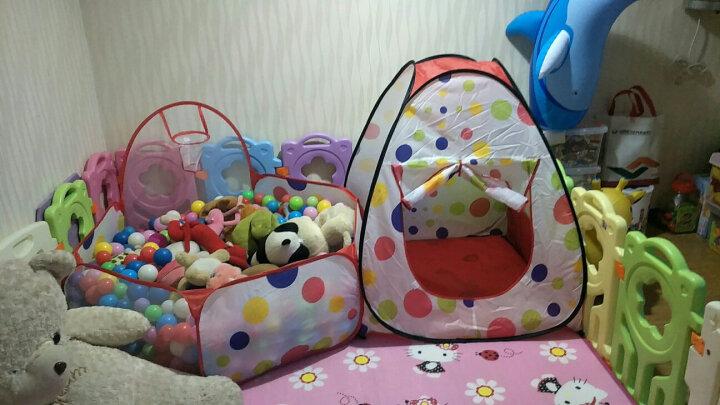 保蒂卡 儿童帐篷游戏屋 海洋球 可折叠波波球池海洋球池 宝宝帐篷 1.2M可投球球池加100个球 晒单图