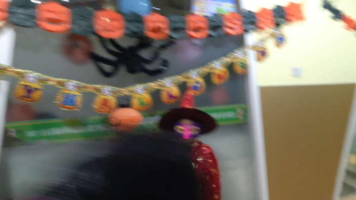 万圣节服装道具儿童披风男女披风面具斗篷化妆舞会cosplay女巫演出服巫婆帽子套装南瓜灯桶 红色 晒单图
