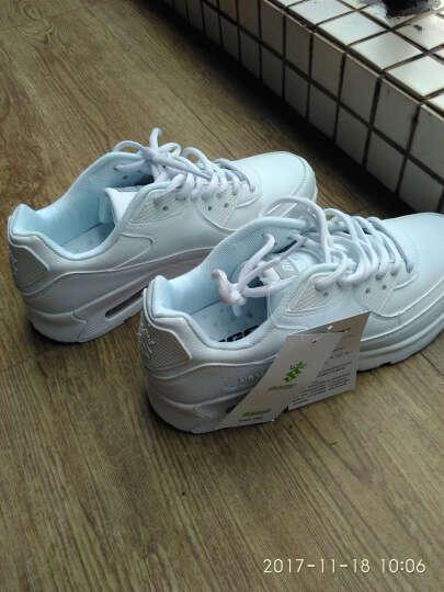 八哥(Bage)运动鞋男鞋跑步鞋冬季气垫减震慢跑鞋透气旅游鞋女 白色 40 晒单图