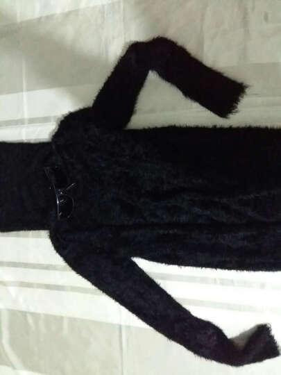 范克西2017秋冬新款时尚韩版套头高领毛衣男装加厚针织打底毛衫 黑色 XL 晒单图