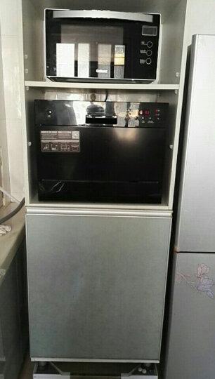 CAL洗碗机嵌入式家用台式全自动6套除菌烘干小型迷你机 061H晶黑 晒单图