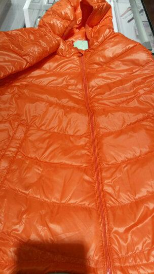 俞兆林(YUZHAOLIN) 儿童羽绒服白鸭绒填充轻薄冬季新款男女童保暖外套羽绒上衣 净面夹克-橙色 130CM 晒单图