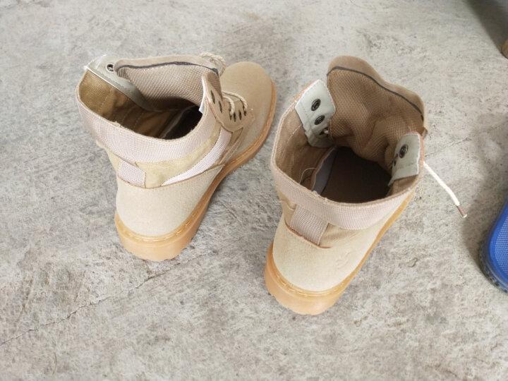 秋冬季马丁靴子男英伦风皮靴男士短筒潮流高帮工装保暖加绒棉鞋短靴男鞋 黑色 皮面款 42 晒单图