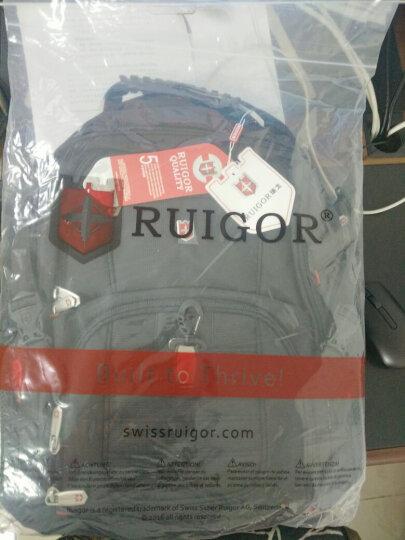 瑞士军刀瑞戈电脑包15.6英寸 商务休闲背包 男女双肩包 防水书包大容量旅行包 8112款黑色|加大版3层|17英寸 晒单图
