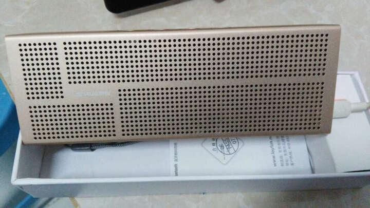 蓝悦(LEnRuE)A6pro 蓝牙音箱 双喇叭低音炮电脑音响 迷你音响 便携插卡音箱 土豪金 晒单图