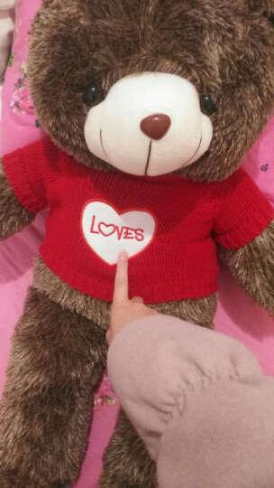 泰迪熊音乐抱枕 生日礼物女生 创意实用礼品送女友老婆闺蜜 80cm 圣诞快乐 晒单图