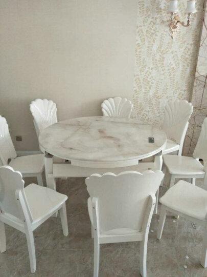 思家格调 大理石餐桌椅组合套装 现代简约餐厅家具 可伸缩折叠实木餐桌 圆形餐桌 餐桌+4把椅子 晒单图