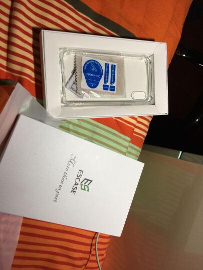 ESCASE 苹果iPhoneX/10手机壳 5.8英寸双色精密抗震保护套 全包边硅胶软套彩色边框 四角防摔2米ES-78系列 透明红 晒单图