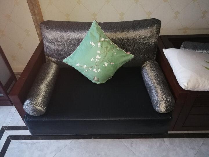 丹姆菲尊享 高密度海绵垫实木沙发垫套装定制加厚坐垫椅子布艺飘窗垫夏 高密度海绵 3cm厚/平方(海棉) 晒单图