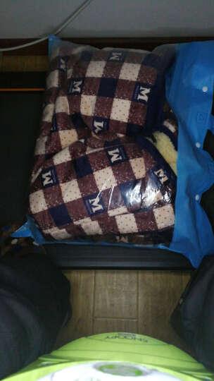 艾斯六佰  睡衣男居家服男加厚金丝绒夹棉睡衣男士长袖棉袄加大码家居服男款套装 黄格子 3XL 晒单图