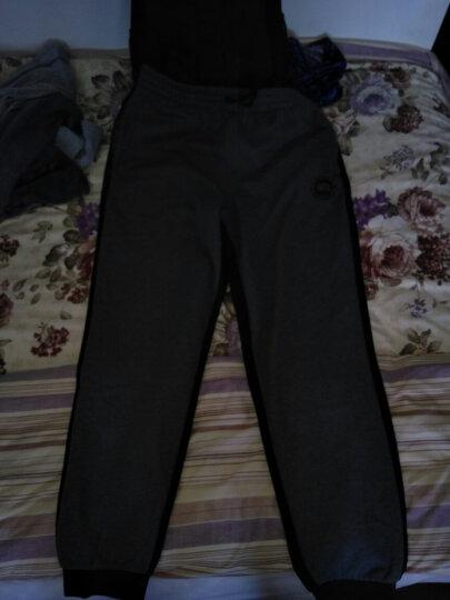 李宁官方旗舰店男子卫裤BAD FIVE篮球系列收口抓绒运动裤AKLM801 男装 深花灰 XL 晒单图