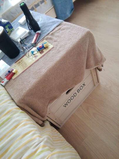 家逸(JIAYI) 家逸 实木收纳柜置物盒收纳箱百搭储物箱木箱子 小号一个箱子 晒单图