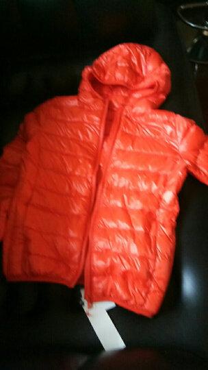 儿童羽绒服春秋款男女童装轻薄款羽绒服90绒中大童羽绒外套 橘色 150码适合135-145cm身高 晒单图
