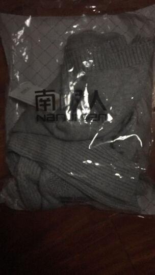 南极人 针织衫女2018秋冬季新品韩版外套中长款打底衫加厚纯色半高领毛衣女 M1316 灰色 XL 晒单图
